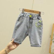 Children's clothing children's pants boys girls baby five-point pants Korean baby jeans summer tide P4063