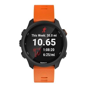 Image 4 - עבור Garmin 245 רצועת WatchBandS סיליקון כפתור רשמי ספורט רצועת עבור Forerunner 245 M/645/Vivoactive3/Vivomove HR צמיד