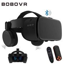 Bobo vr z6 óculos 3d sem fio, bluetooth, realidade virtual para smartphone, som estéreo, vr, headset, cartão para iphone e android