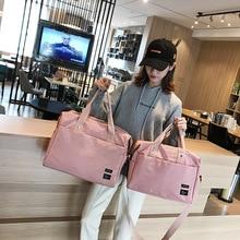 Korean Travel Bag Leisure Handbag Waterproof Oxford Luggage Fitness Short-distance Large-capacity