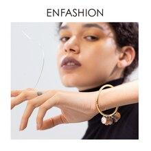 ENFASHION Natural Conch Tag Cuff Bracelets Bangles For Women