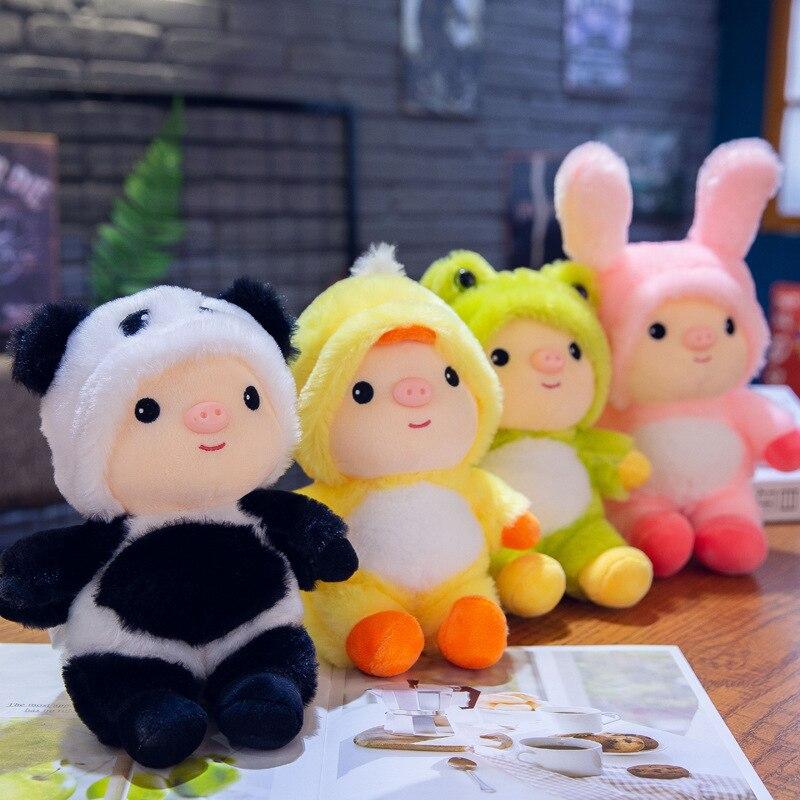 25cm Cute Panda Frog Baby Plush Toy Stuffed Animal Small Rabbit Doll Children Toys Girls Ragdoll Gift