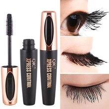 Qic 4d fibra de seda cílios rímel extensão maquiagem preto à prova dlash água olho lash
