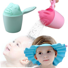 Мультяшные Детские шапочки для ванны, Детские шампуневые стаканы, детские купальные ложки для душа, Детские моющие стаканчики для волос, Детские Банные принадлежности