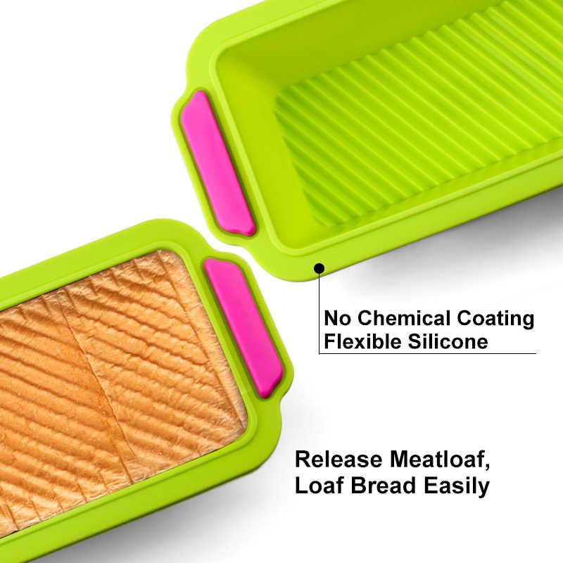 Siliconen Gelaagde Cakevorm Ronde Vorm Rechthoekige Siliconen Brood Pan Toast Brood Schimmel Cake Tray Schimmel Non-stick Bakken gereedschap