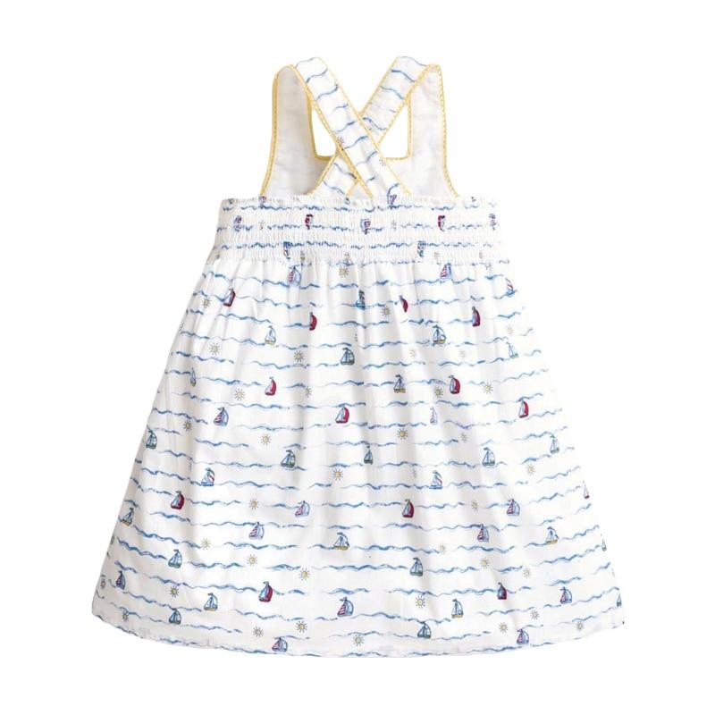 Little maven 2-7Years Summer white strapl Dress For Girl Princess Costume Children's Kids Toddler  Vestidos Elegant Frocks Dress 3
