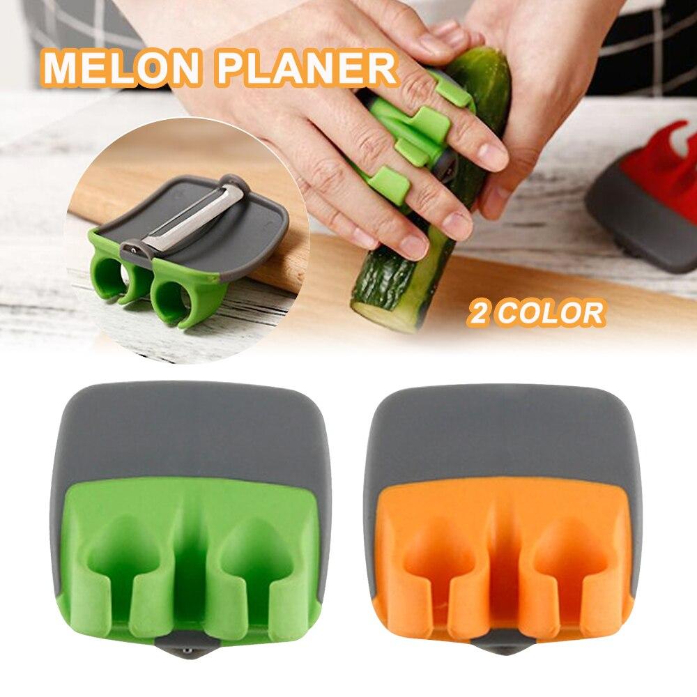 Stainless Steel Sharp Blade Finger Fruit Vegetables Peeler Gadget Slicer Kitchen Finger Protectiver Sharp Blade Finger Peeler