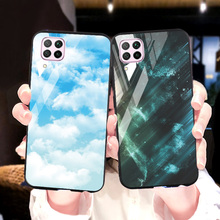 Tempered Glass Case For Huawei Nova 5T 6 SE 7i 2S 3i 5 Case Luxury Silicone Hard PC Cover For Huawei Honor 8X Max 8C 8S Bumper