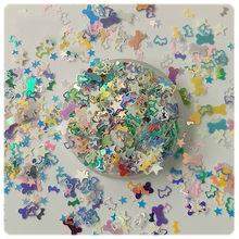 10g estrela da arte do prego lantejoulas mistura oco para fora osso do cão coração flocos lantejoulas paillettes para unhas arte manicure, confetes decoração do casamento