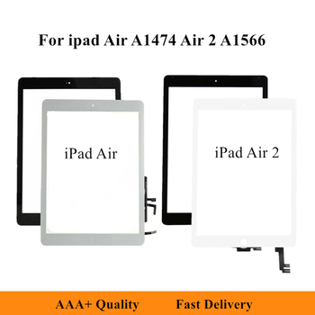 LCD Touch Screen Front Panel Glass Digitizer For iPad Air A1474 A1475 LCD Display Panel For iPad Air 2 A1566 A1567 Outer Glass image