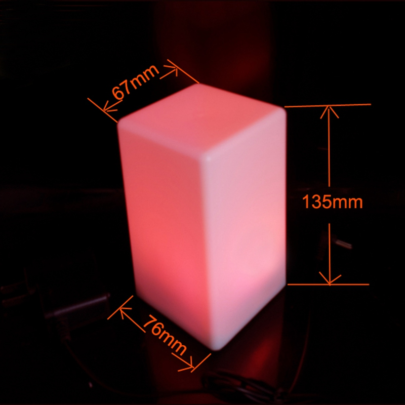 LED 7 Color Changing Mood Cube Night Light Glow Lamp Home Party Decor 2018 New