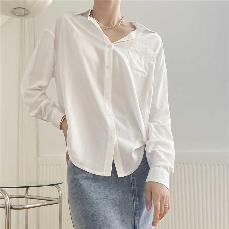 Colorgod nouveau 2020 femmes printemps été Blouse chemises Plaid à la mode simple boutonnage décontracté lâche sauvage doux rose hauts BL1023
