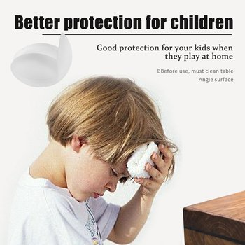 Transparent safety corner protector, table corner protection for babies with 1 pieces 4