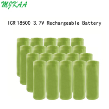 MJKAA 8-20PCS 18500 1400mAh 3.7V Li-ion Rechargeable Battery Recarregavel Lithium Batteies For LED Flashlight 2 4pcs unitek 3 7v 18500 battery 1800mah rechargeable li ion lithium ion cell with welding tabs pins for led torch flashlight