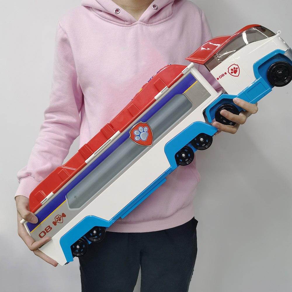 Original pat' patrouille Bus avec musique chiot patrouille peut séparer Ryder jouets ensemble cadeau d'anniversaire figurines d'action jouets pour enfants 2D89