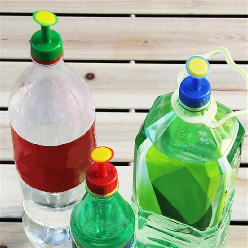 Hcba0aa0ed8b346debe0936392f153322s 3pcs Gardening Plant Watering Attachment Spray-head Soft Drink Bottle Water Can Top Waterers Seedling Irrigation Equipment