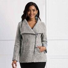 цена Sisjuly Gray OL Ladies Casual Wool Warm Jackets Women Coats Slim Lapel Zipper Pocket Autumn African Female High Street Overcoats онлайн в 2017 году