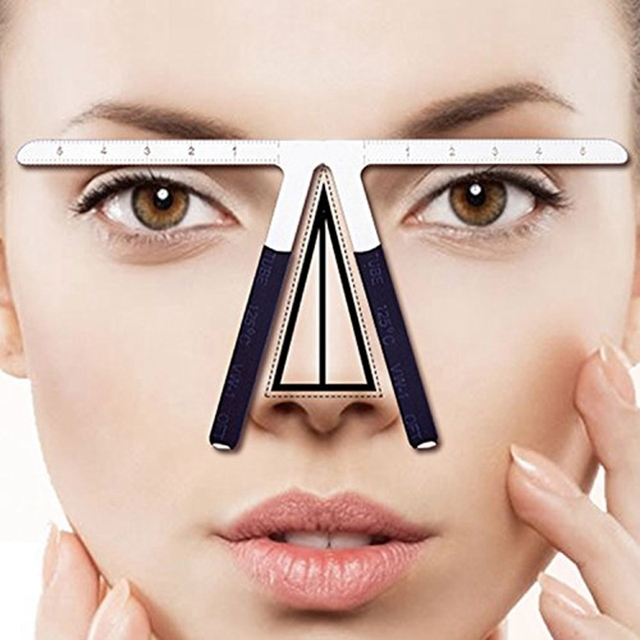 2Pcs Three-Point Positioning Ruler Permanent Makeup Tattoo Eyebrow Measure Ruler Symmetrical Balance Grooming Stencil Tool 5