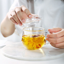 300ML Borosilicate Glass Teapot Heat Resistant Square With Tea Infuser Filter Milk Oolong Blooming Flower Pot Set