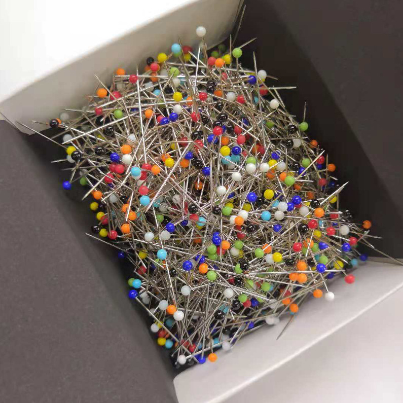Cross Border Hot Sales Glass Head Beads Needle 32/38 Size Sewing Handmade Draping Pin 1000-Pack