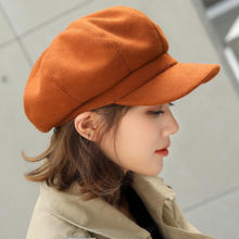 Модный женский берет сезон осень зима восьмиугольные шапки стильные