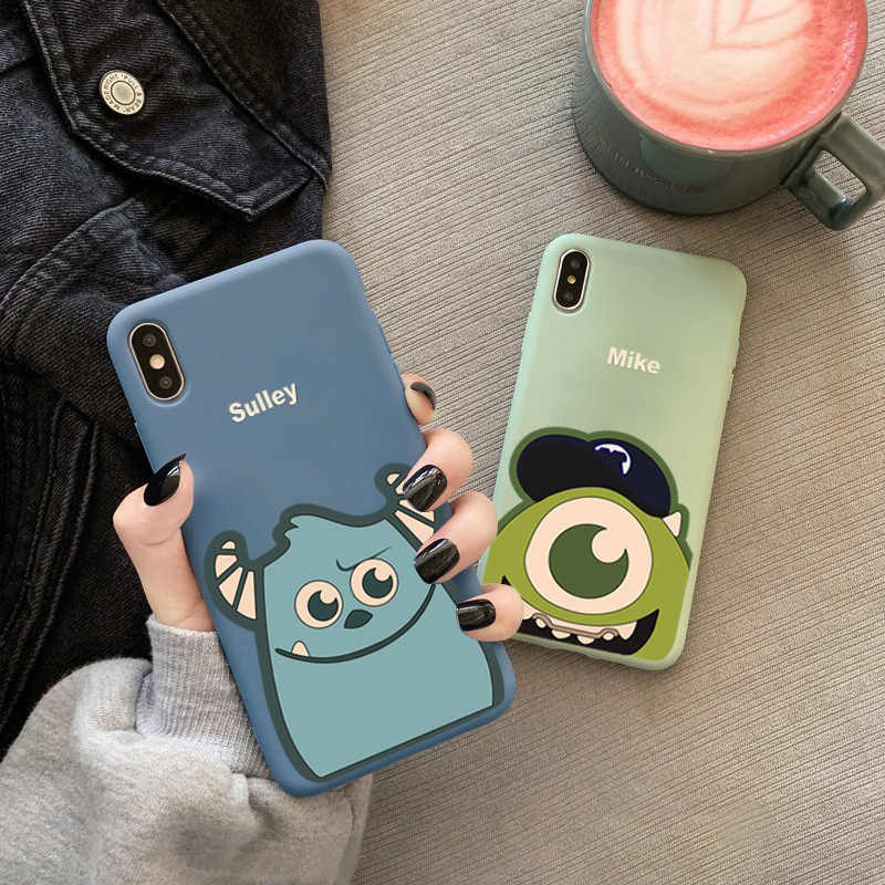 Cartoon Leuke Pinda comic Case voor iphone 11 Pro Max X Xs Max Xr 8 7 6 6s Plus Snoep puppy Soft Silicon TPU Telefoon Cover Paar