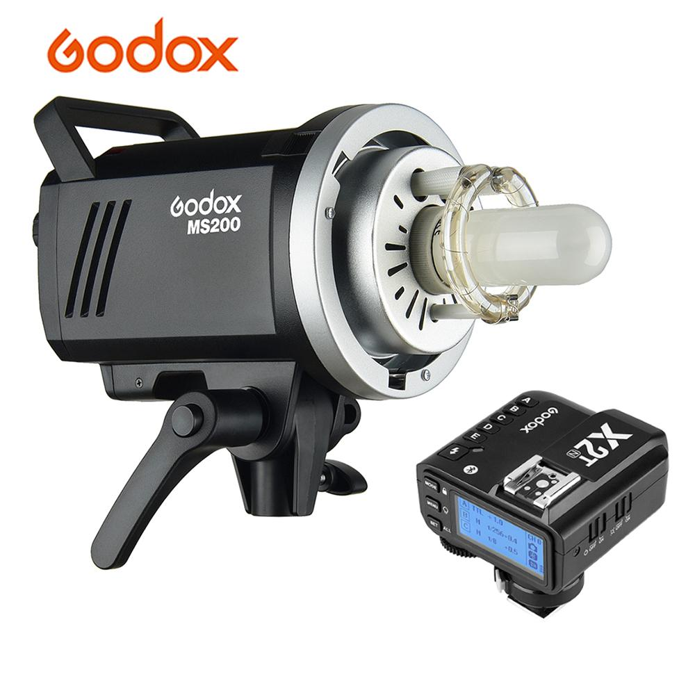 Godox MS200 Studio Flash lumière stroboscopique GN53 5600K avec 150W lampe Bowens Mount + X2T-N i-ttl Flash déclencheur pour Nikon DSLR appareil photo
