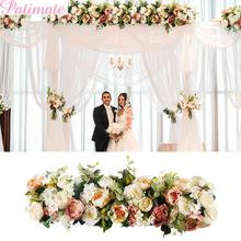 PATIMATE Road Cited Artificial Flowers Wedding Decoration Wall Arched Door Shop Flower Party Decor