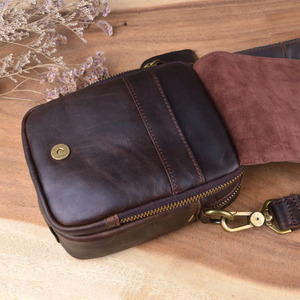Image 3 - AETOO sac à bandoulière en cuir véritable pour hommes, petit sac à bandoulière sac Casual