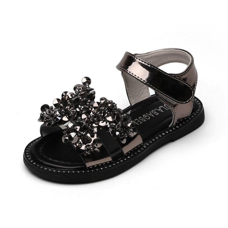 2020 Summer New Children Sandals Fashion Rhinestone Princess Shoes  Girls Roman Shoes Baby Sandals