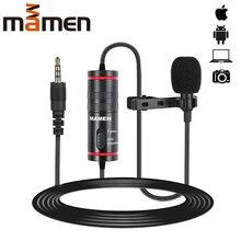MAMEN 3,5 мм Аудио Видео Запись петличный микрофон с отворотом для iPhone Android Mac Vlog микрофон для DSLR камеры видеокамеры рекордер