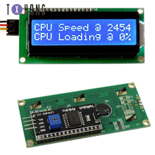 LCD display LCD1602 module Blue screen 1602 i2c LCD Display Module HD44780 16x2 IIC Character 1602 5V for arduino lcd display i2c iic lcd 1602 arm yellow green display module for arduino raspberry pi avr arm page 3