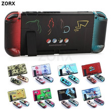 Cubierta protectora para consola NS Nintendo Switch, juego de carcasa, muelle directo acoplable, Joy-con Xenoblade 2/Zeldar/Splatoon2