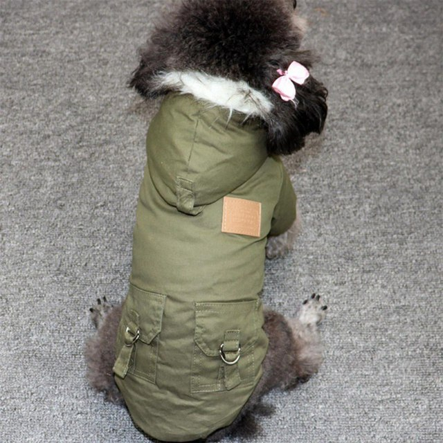 Pet Cats and Dogs Winter Warm Down Jacket Jacket Medium and Small Dog Chihuahua Hooded Clothes Lightweight Hoodie 3