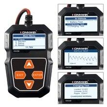 KW208 – testeur et analyseur de batterie de voiture, 12V, 100 2000cca, système de charge, X6HF