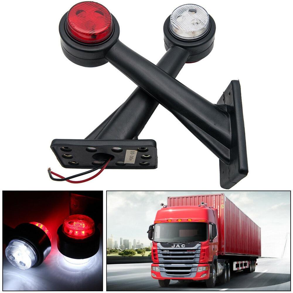 Водонепроницаемые и прочные габаритные огни, 2 шт., 12 В, 20 см, более яркий светодиодный автомобильный фонарь для прицепов, грузовиков, легковы...