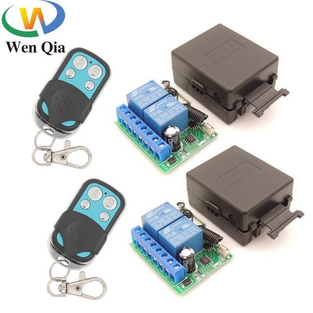 DC12V 10Amp 2CH 2 банды 433 МГц rf пульт дистанционного управления Переключатель Беспроводной релейный приемник для гаража \ освещение \ Электрический регулятор двери