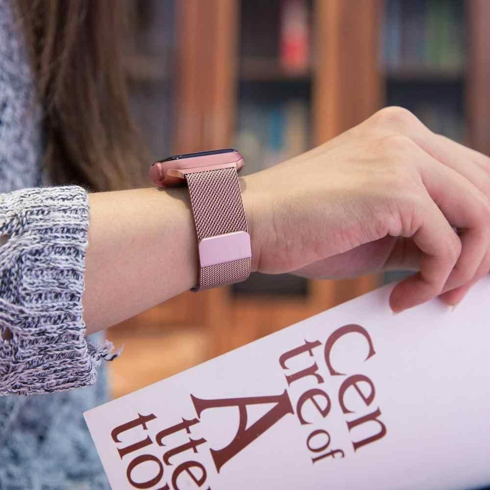 ממילאנו לולאה להקת עם מקרה עבור אפל שעון סדרת 5/4/3/2 38mm 42mm 40mm 44mm נירוסטה רצועת יד צמיד עבור iwatch
