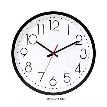 10 Cal ściany kwarcowe Horloges niski poziom hałasu wiszące cyfrowy zegar sypialnia 25CM kreatywny gruby zegarek granicy na wystrój salonu tanie i dobre opinie OUTAD CN (pochodzenie) europe Quartz Hanging Clock circular Jedna twarz 25mm 500g ZAGARY ŚCIENNE Płyta 9 mm Malownicza sceneria