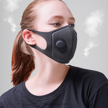 Противопылевая маска против гриппа для лица для зимнего бега с угольным фильтром, медицинская маска KN95 против РМ2, 5, черная маска на рот, смываемая маска