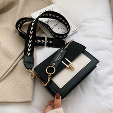 2020 New Mini Handbags Women Fashion Ins Ultra Fire Retro Wide Shoulder Strap Messenger Bag Purse Simple Style Crossbody Bags(China)