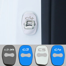 Door Lock Decoration Rust Protection Stainless Steel Plastic Cover Case for Citroen C3 C3-XR C4 C5 Accessories