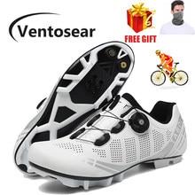 Ventosear-Zapatillas de Ciclismo de fibra de carbono para hombre y mujer, originales, de marca, velocidad, estilo libre, para ciclismo de montaña
