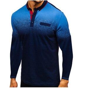 Image 1 - 2019 Autumn NEW Fashion POLO Shirt Men, Cotton Casual Long Sleeve POLO Shirts, Male High Quality Turn Down Collar POLO Shirt