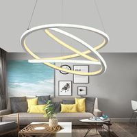 Nordic living room modern simple creative circular restaurant bar bar personality fashion led table corridor chandelier E27