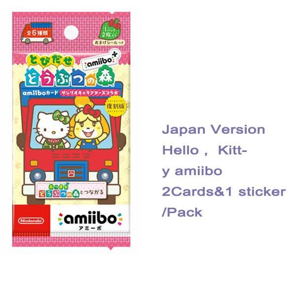 Карты для пересечения животных Nintendo amiibo, 1 2 3 4, новый лист маршала amiibo ДЛЯ NS New Horizon Wii U 3DS, сделано в Японии