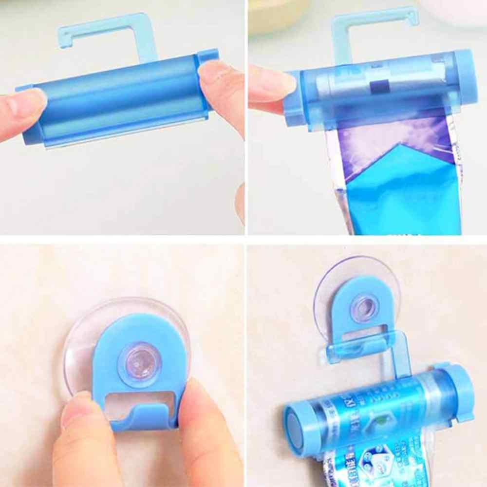 Tubo de rolamento squeezer pasta de dentes dispensador otário titular creme dental banheiro manual seringa arma dispenser