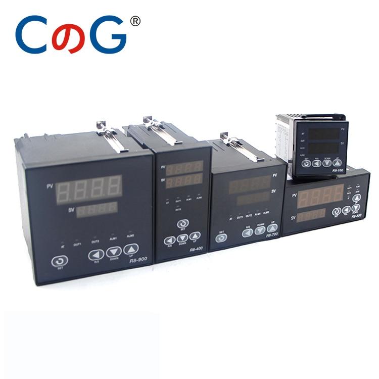 R8-100 entrée Multiple K J PT100 Thermostat ca 220V sortie numérique SSR relais 1300 degrés PID Programmable régulateur de température
