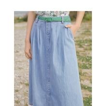 INMAN 2020 Summer New Arrival High Waist Fashion Leisure All-match A-line Slimmed Denim Skirts