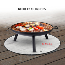 Fire-Pit-Mat Under-Grill Outdoor Patio Fireproof for Floor Lawn Camping 24inch Silver